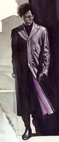 Mr. Glass, sporting an awesome purple coat and my favorite genetic disorder.
