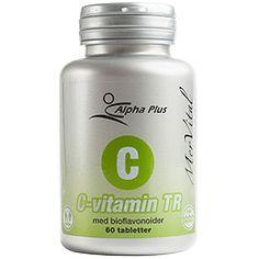 MerVital C-vitamin TR - 60 tabletter i gruppen Hår, Hud & Naglar / Alpha Plus hos Vitapost.se (478900)