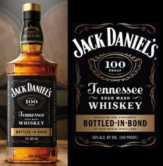 Jack Daniel's Bottled In Bond. Bourbon Whiskey, Whisky, Alcohol Bottles, Jack Daniels, Iced Tea, Distillery, Tgif, Scotch, Cigars