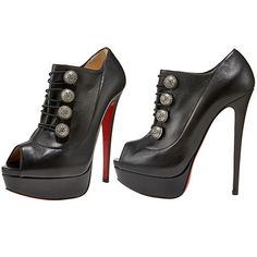 Christian Louboutin Military Button Peep Toe Ankle Boots $1,165.00 Like or hate?