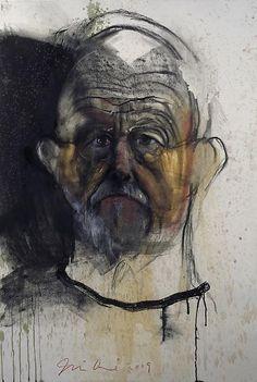 self-Portrait by Jim Dine, contemporary Pop Artist and Neo-Dadist. Jim Dine, Claes Oldenburg, Life Drawing, Painting & Drawing, Ap Drawing, Painting Portraits, Paintings, James Rosenquist, Self Portrait Drawing