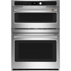 Cafe 30 in. Double Electric Wall Oven With Convection and Advantium Self Cleaning in Stainless Steel, Silver French Door Wall Oven, Four A Convection, Electric Wall Oven, Cafe Wall, Single Oven, Micro Onde, Oven Racks, Fresh Vegetables
