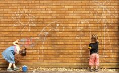 collaborative chalk mural : : : how to create big art with your family : : : : sparklestories.com