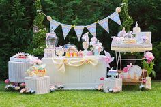Candy buffet by cakes by Sharon