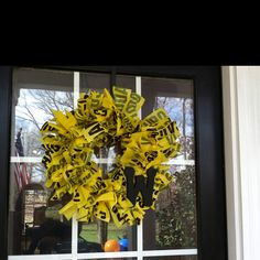 Caution tape wreath...what will they think of next?!