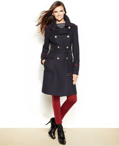 Vince Camuto Belted Wool-Blend Military Coat on shopstyle.com