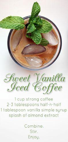 This Sweet Vanilla Iced Coffee Recipe