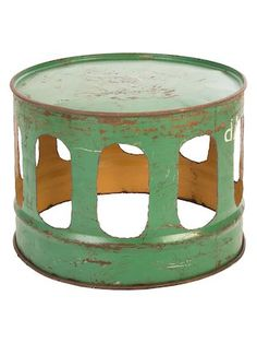 Oil Drum Lath Stool by Origin Collection at Gilt