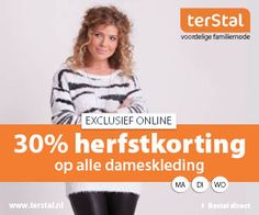 Nu bij terStal: 30% dameskleding terStal korting. #terStal #KortingsWijzer #korting