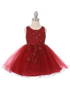 8ded92223e9e Red Flower Girl Dresses, Lace Flower Girls, Little Girl Dresses, Girls  Dresses,