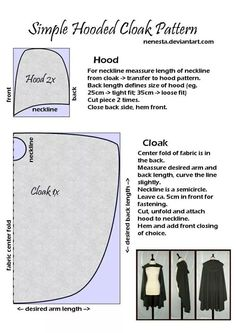 How to make a cloak
