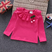 New Cotton Cherry Kids Child Baby Girls Shirt Long Sleeve Girls Blouse Designs Baby Girl Pajamas, Baby Girl Shirts, Carters Baby Girl, Shirts For Girls, Child Baby, Baby Girls, Baby Boy, Toddler Outfits, Kids Outfits