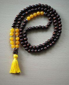 Mala necklace 108 prayer beads Jade mala necklace by LAleTA, $29.50