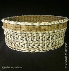 Поделка изделие Плетение Японское-послойное с послойным в две трубочки Бумага газетная Трубочки бумажные фото 6