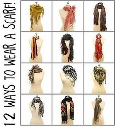 12 ways to wear a scarf.