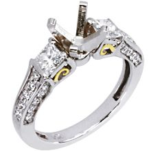 Mistral Engagement Ring | Diamond Ideals Add your own stone.  GORGEOUS!!!