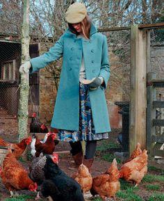 536236066ee blue coat Autumn Winter Outdoor Wear