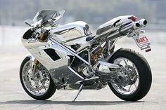 1098s CHROME Ducati custom by Nippon de'Light rear view