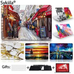 Case For Macbook Pro 13 15 12 Retina Air 11 13 Touch Bar A1706 A1707 A1708 Matte Oil Print Cover Left Brain Marble Wood laptop //Price: $15.31//     #shopping