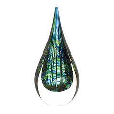 Peacock Art Glass Sculpture - http://findwallart.com/glass-wall-art/peacock-art-glass-sculpture/