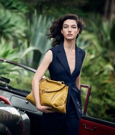 McKenna Hellam poses in Italy for Salvatore Ferragamo's spring 2017 campaign