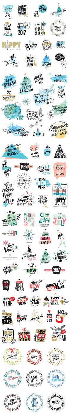 Christmas and New Year's Stickers on Behance