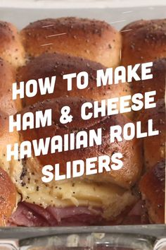 game day food These little oven baked ham and cheese Hawaiian roll sliders are a family favorite. With their buttery sweet Hawaiian buns, topped with a crispy o Ham And Cheese Sliders Hawaiian, Hawaiian Roll Sandwiches, Rolled Sandwiches, Slider Sandwiches, Sliders With Hawaiian Rolls, Ham Cheese Sliders, Ham And Swiss Sliders, Party Sandwiches, Hallowen Food