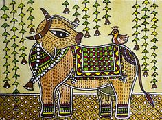 India Painting - The Benefactress by Amrutha Jayachandran India Painting, Madhubani Painting, Different Types Of Painting, Madhubani Art, Indian Folk Art, Tribal Art, Mandala Design, Flower Crafts, Art Google