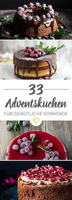Adventskuchen: 33 mal Kaffee, Kuchen, Kerzenschein Advent, Advent, a little light is burning. Make yourself comfortable with your loved ones with sweet cakes at the Advent table. Because the cakes never taste sweeter! Baking Recipes, Cake Recipes, Dessert Recipes, Food Cakes, Cup Cakes, Christmas Desserts, Christmas Baking, Merry Christmas, Christmas Recipes