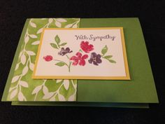 Stampin up painted petals from new occasions catalog 2015.