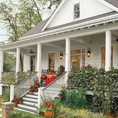 The Potter's House | Truly Southern best describes this raised cottage. For entertaining, casual enjoyment and everyday living, from its porch step inside to find style and space in only 2,500 square feet. Organized, comfortable spaces and sensible planning are the hallmarks of this design. | SouthernLiving.com