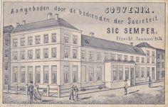 Gebouw 'Sic Semper', hoek Nieuwe Gracht / Trans te Utrecht, vòòr de totale verbouwing van 1890 (naar ontwerp van architect P.J. Houtzagers), vernoemd naar de gelijknamige vereniging, een prinsgezinde Oranjesociëteit, opgericht  in 1775. De sociëteit Sic Semper is in 1914 opgeheven.