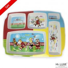 Hi Luxe Rectangular Partition Kids Plate