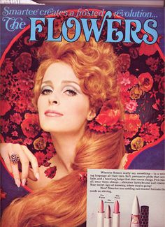 Alphonse Mucha inspired? Make up ad in a Seventeen magazine from 1968