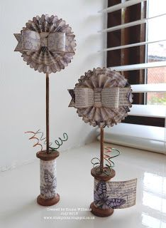 Today, is my turn to share over on Craftwork Cards and these are what I've made. Wooden Spool Crafts, Wooden Spools, Handmade Christmas, Christmas Crafts, Book Crafts, Paper Crafts, Paper Medallions, Craftwork Cards, Shabby Chic Crafts