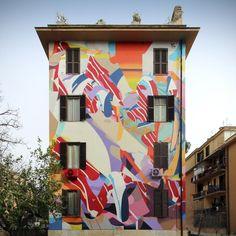 Street ar20 artisti per un qt in Rome Italy by urban artist Satone Deutchland quartiere