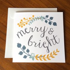 Merry and Bright for Christmas by Julia on Etsy