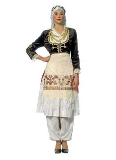 Cretan Female Traditional Costume. Folk Clothing, Greek Clothing, Dance Costumes, Greek Costumes, Costumes Around The World, Greek Wedding, Folk Costume, Dance Dresses, Daily Wear