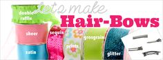 Check out this site selling high-quality Hair-bow and crafting supplies like grosgrain ribbon, resins, headbands, flowers, clips and much more! Everything you need to make cute hair bows at a great price! http://www.hairbowcenter.com/