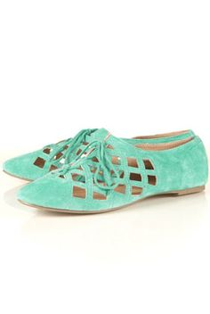 MERRILY Suede Open Laceup Shoes
