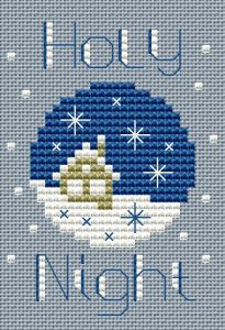 Holy Night cross stitch pattern - Silent Night Holy Night All is calm All is bright… - # Cross Stitch Christmas Cards, Xmas Cross Stitch, Cross Stitch Kits, Counted Cross Stitch Patterns, Cross Stitch Designs, Cross Stitching, Cross Stitch Embroidery, Hand Embroidery, Theme Noel
