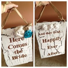 Cute wedding ideas. For kids to carry down the aisle?