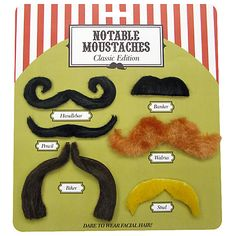 Buy Notable Moustaches, Assorted