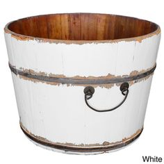 @Overstock - Wooden Rice Bucket - A wooden water bucket that was used to transport water, now you can own a piece of history with this beautifully kept vintage water bucket.  http://www.overstock.com/Home-Garden/Wooden-Rice-Bucket/8233452/product.html?CID=214117 $50.23