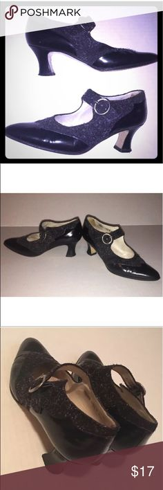 """BALLY Women's Mary Janes Black Leather Pumps BALLY Women's Mary Janes Black Leather Pumps  Style: """"Freddy""""  Size 6.5  Black Leather with Suede Textured Inset  Pointed Toe  Wide Strap with buckle (adjustable)  2"""" heel  Soles have decent wear but still in really nice condition.  Smoke Free Home. Bally Shoes Heels"""