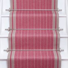 Designers and Makers of unique stripe runners, rugs and fabrics in natural fibres. Simply Luxury for Modern Living Bright Hallway, Front Hallway, Striped Carpets, Black Stairs, Carpet Staircase, Hallway Decorating, Carpet Design, Carpet Runner, Rugs