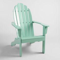 Jadeite Wood Adirondack Outdoor Chair - v1