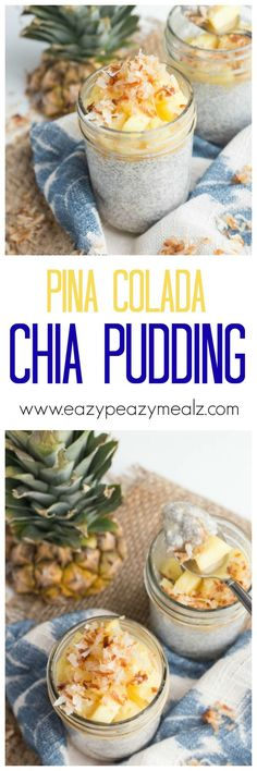 Breakfast? Dessert? Chia seed pudding is healthy enough for breakfast, but delicious enough for dessert, and this Pina colada version will make you feel like you are on vacation. I am obsessed. Dairy free!
