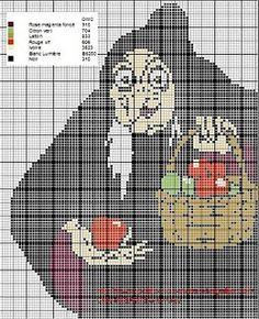 Snow White - Hag w/ apple basket