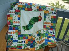 Love this one! Very Hungry Caterpillar Lap Quilt